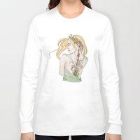virgo Long Sleeve T-shirts featuring Virgo by Vibeke Koehler