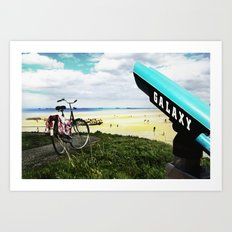 Gold Beach Vantage Point Art Print