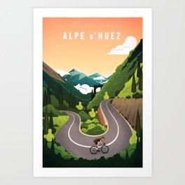Alp d'Huez Art Print