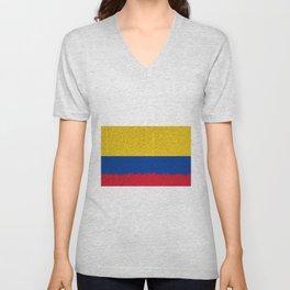 Extruded flag of Columbia Unisex V-Neck