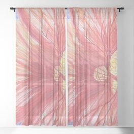 Nasturtium Flower Sheer Curtain
