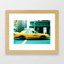 Taxi Blur Framed Art Print