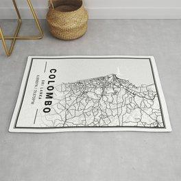 Colombo Light City Map Rug