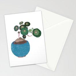 Pilea Money Tree Linocut Stationery Cards