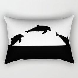 Dolfin Jumps Rectangular Pillow