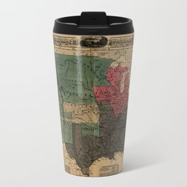 Political Map Of The United States 1856 Travel Mug