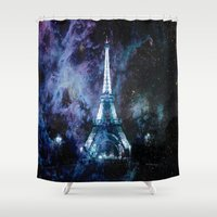 paris Shower Curtains featuring Paris dreams by 2sweet4words Designs