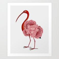 flagon,fling,flan,flamingo Art Print
