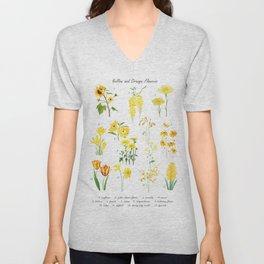 yellow and orange flower collections Unisex V-Neck