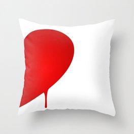 Half Heart Man Throw Pillow