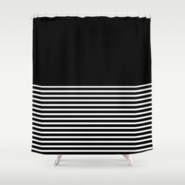 Horizontal stripes Shower Curtain