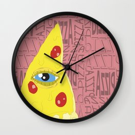 Pizzailluminati Wall Clock