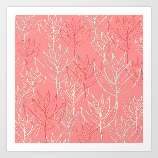 June leaves Art Print