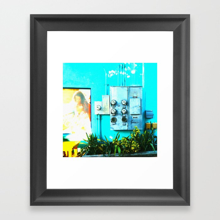 #KEY WEST POETRY by Jay Hops Framed Art Print