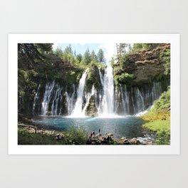 McArthur Burney Falls Art Print