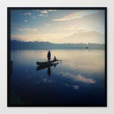 Sampaloc Lake Fishing Canvas Print