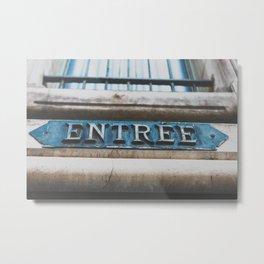 Entree Metal Print