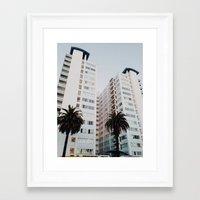 santa monica Framed Art Prints featuring Santa Monica by loope.