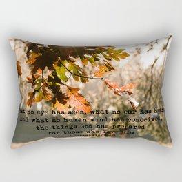 1 Corinthians two nine #bibleverse #inspirational Rectangular Pillow