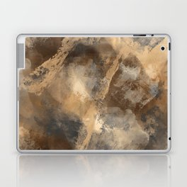 Stormy Abstract Art in Brown and Gray Laptop & iPad Skin
