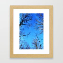 scratch the sky Framed Art Print