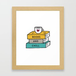 Books And Chill Framed Art Print