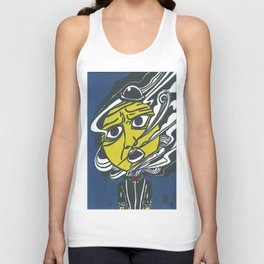 The Man in the Moon Unisex Tank Top