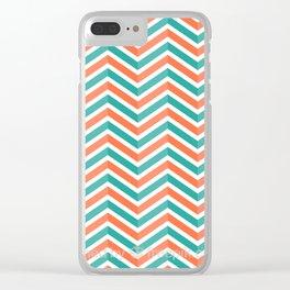 Modern Zigzag Clear iPhone Case