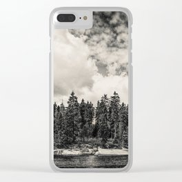 Far Away Clouds Passing By Clear iPhone Case