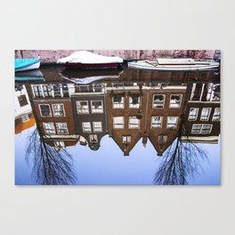 AMSTERDAM / Winter Reflections Canvas Print