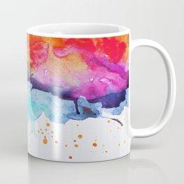 Rainbow Chakra Watercolor Splash Coffee Mug
