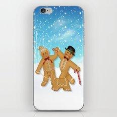 Gingerbread Family Winter Fun iPhone & iPod Skin