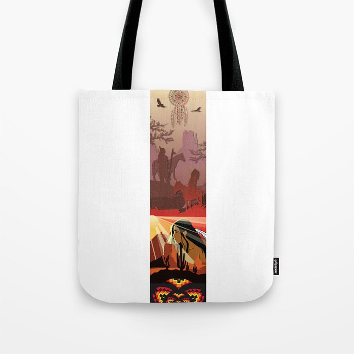 An American Native Story Tote Bag