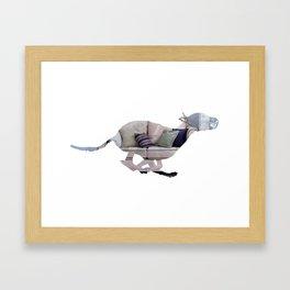 Greyhound Couch Potatoe [1] Framed Art Print