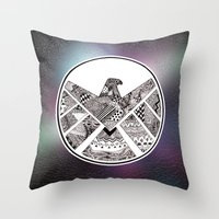 shield Throw Pillows featuring SHIELD by Ruth Ms