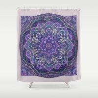 batik Shower Curtains featuring Batik Meditation  by DebS Digs Photo Art