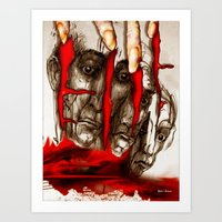 zombies Art Prints featuring Zombies by Rafael Salazar