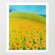 A Field of Sunshine Art Print