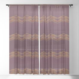 cinnamon southwest stripe Sheer Curtain