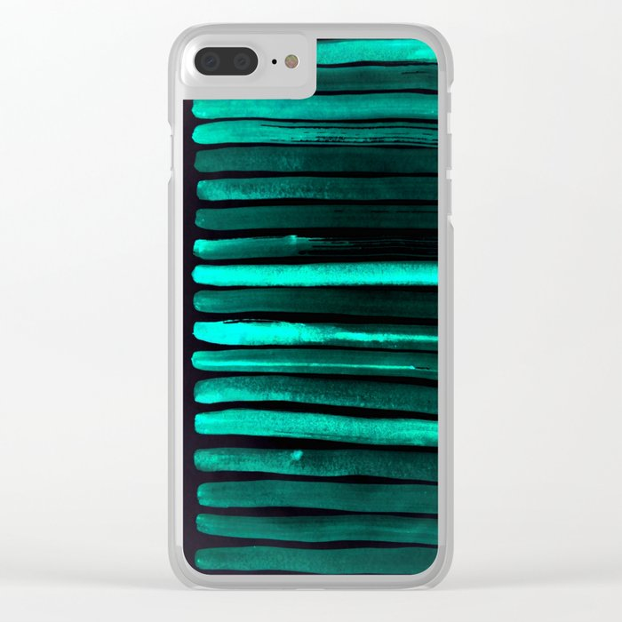 We Have Cold Winter Teal Dreams At Night Clear iPhone Case
