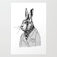 Bunny Suit Art Print