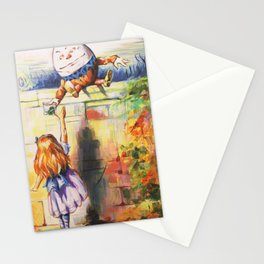 Alice Meeting Humpty Dealer Stationery Cards