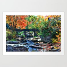 Over the River and Through the Woods... Art Print
