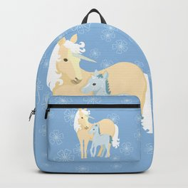 Unicorns. Mom and baby Backpack