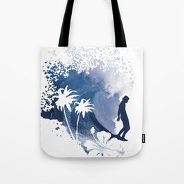 The Longboard Surfer Tote Bag