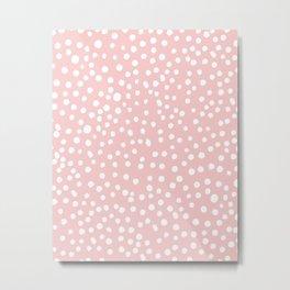 Rosequartz -marble pantone color art print decor minimal pastel pink girly hipster dots dot Metal Print