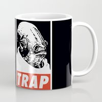 stickers Mugs featuring Obey Ackbar's TRAP by Don Calamari