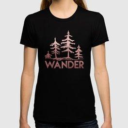WANDER Adventure Forest Rose Gold Pink T-shirt