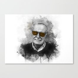 Stan Lee watercolor Canvas Print