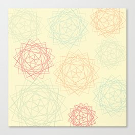 Origami Blooms Canvas Print
